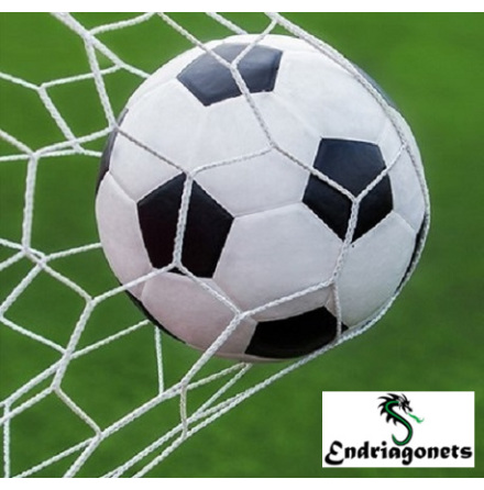 Fotbollsnät 7,5 m x 2,5 m, 11-manna Vit 3 mm Spanien