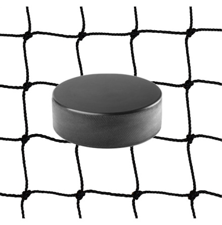 Innebandynät i 2mm svart nylon med kantsydd lina, 3m x 3m