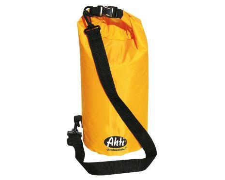 Vattentät axelväska med bärhandtag och axelrem. Drybag Gul.