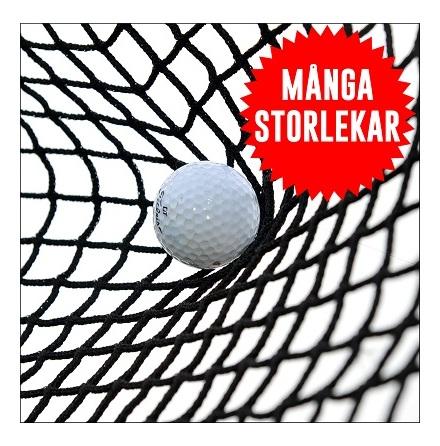 Golfnät 1mm tråd 20mm svart nylon