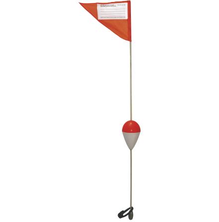 Flaggboj 1m med kontaktlapp 2-pack